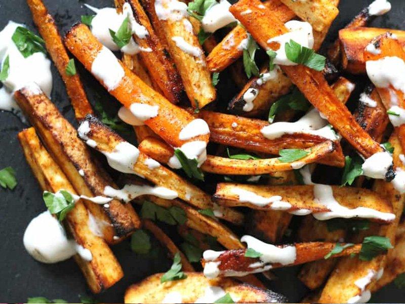 Healthy Twist on Chicken Tenders & Fries