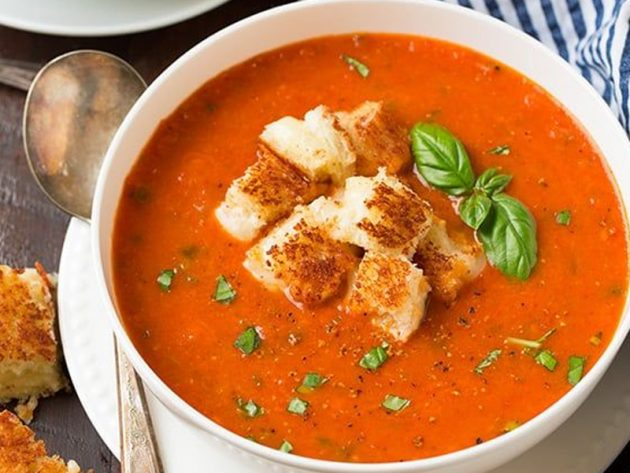 tomato soup.jpg Healthy Twist on Tomato Soup & Grilled Cheese