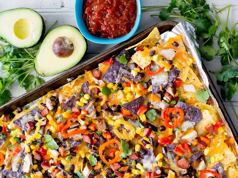 Veggie Sheet Pan Nachos