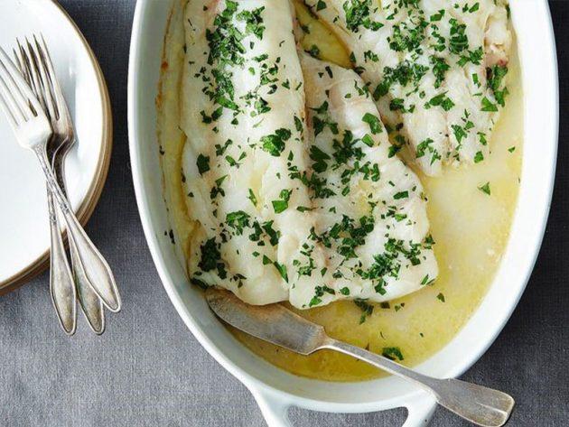 lemon mustard halibut