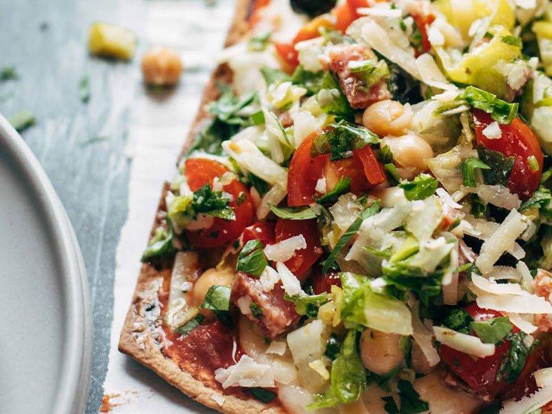 11chopped salad pizza