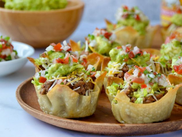 mini turkey taco cups